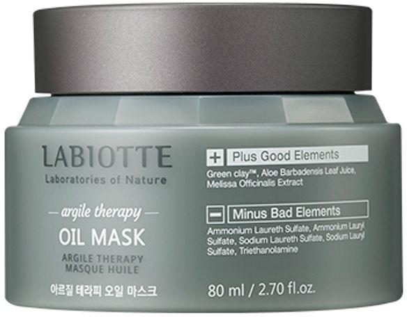 Labiotte Argile Therapy Oil MaskУникальная маска из очищающей коллекции Argile Therapy от косметического бренда Labiotte изготовлена на основе ценных ароматных масел и зеленой глины, которые во взаимодействии друг с другом дают прекрасный очищающий и успокаивающий эффект.<br>Oil Mask деликатно очищает кожу от всех видов загрязнений, удаляет излишки кожного сала, интенсивно питает, снимает раздражение, наполняет клетки витаминами и влагой, сужает поры, придает коже мягкость и бархатистость.<br>Зеленая глина в составе продукта способствует эффективной абсорбции загрязнений, шлаков, токсинов, сальных пробок, она удаляет мертвые клеточки с поверхности кожи, обеззараживает ее, снимает воспалительные процессы, придает упругость и эластичность коже.<br>Алоэ великолепно увлажняет и способствует длительному сохранению влаги в эпидермисе. Растение обладает прекрасными успокаивающими и омолаживающими свойствами, а также надежно защищает лицо от негативного воздействия ультрафиолета.<br>Мелиса придает коже тонус, активизирует процесс клеточной регенерации, успокаивает кожу, прекрасно ее освежает и выравнивает цвет лица.Объём: 80 мл.Способ применения:Наносить на кожу лица после процессов очищения и тонизирования массажными движениями в течение 2-3 минут. После этого смыть при помощи теплой воды.<br>
