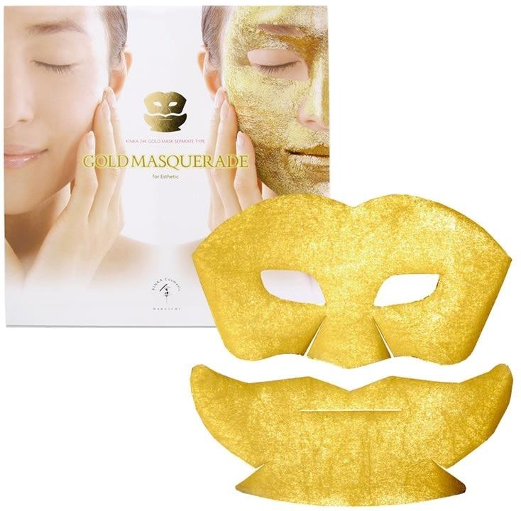 Hakuichi Kinka Gold Masquerade MaskБал-маскарад, маска из золота, роскошь и блеск. В такой праздник может превратить маска для лица Kinka Gold Masquerade Mask ежедневные уходовые процедуры. Звучит заманчиво, не правда ли? Главное, что за внешним блеском скрывается неподдельная польза для здоровья кожи. Весь секрет в наночастицах золота, которые легли в основу этой маски. Благодаря её действию с лица уходит отечность, пропадают морщинки, и без следа исчезает пигментация. Поговаривают, что золотыми масками знатные особы пользовались ещё в Древнем Египте, так, можно сказать, что рецепт проверен тысячелетиями. Подтверждением тому послужит упругая кожа, здоровая и увлажненная, без следа возрастных изменений.<br><br>&amp;nbsp;<br><br>Объём: 31 гр.<br><br>&amp;nbsp;<br><br>Способ применения:<br><br>На очищенное и увлажненное лицо нанесите верхнюю и нижнюю части маски. Оставьте её на 10 минут. Затем, массажными движениями, вбейте масочный слой в кожу. После применения желательно не умываться в период более часа.<br>