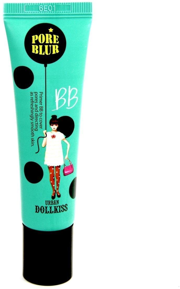 BB   Baviphat Urban Dollkiss Pore Blur BBПредставленный BB крем &amp;ndash; идеальное средство для обладательниц проблемной кожи, на которой выражены широкие поры. Средство имеет весьма плотную текстуру, что позволяет ему идеально выравнивать общий рельеф лица, а также создавать безупречный тон. Продукт также обладает действительным поросужающим действием, поскольку имеет в своем содержании весьма полезные компоненты. В состав BB крема включены такие вещества, как вытяжки шелковицы, винограда, рисовых отрубей, а также гиалуроновая кислота. Вытяжка шелковицы обладает отшелушивающим эффектом и выравнивает цвет лица. Экстракт рисовых отрубей обладает регенерирующим действием. Вытяжка винограда деликатно устраняет загрязнения в порах. Гиалуроновая кислота великолепно напитывает клеточки кожи влагой, исключая риск преждевременного увядания эпидермиса. Применение продукта поможет улучшить вид проблемной кожи и забыть расширенных порах. Придайте вашему лицу здоровый вид при помощи этого BB крема от Baviphat!<br><br>&amp;nbsp;<br><br>Объём: 30 мл<br><br>&amp;nbsp;<br><br>Способ применения:<br><br>Наносите продукт в необходимом количестве на чистое и сухое лицо и распределяйте его при помощи пальчиков, кисточки либо спонжа.<br>