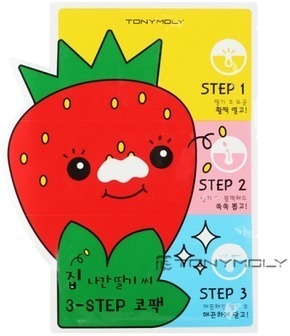 Tony Moly Homeless Strawberry Seeds step Nose Pack фото