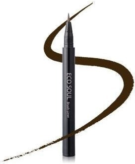The Saem Eco Soul Brush Liner  Deep Brown