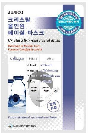Mijin Cosmetics Junico Crystal Allinone Facial Mask Collagen.