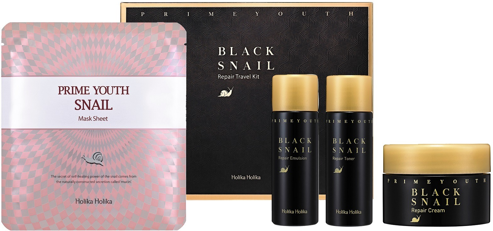 Holika Prime Youth Black Snail Skin Care Kit