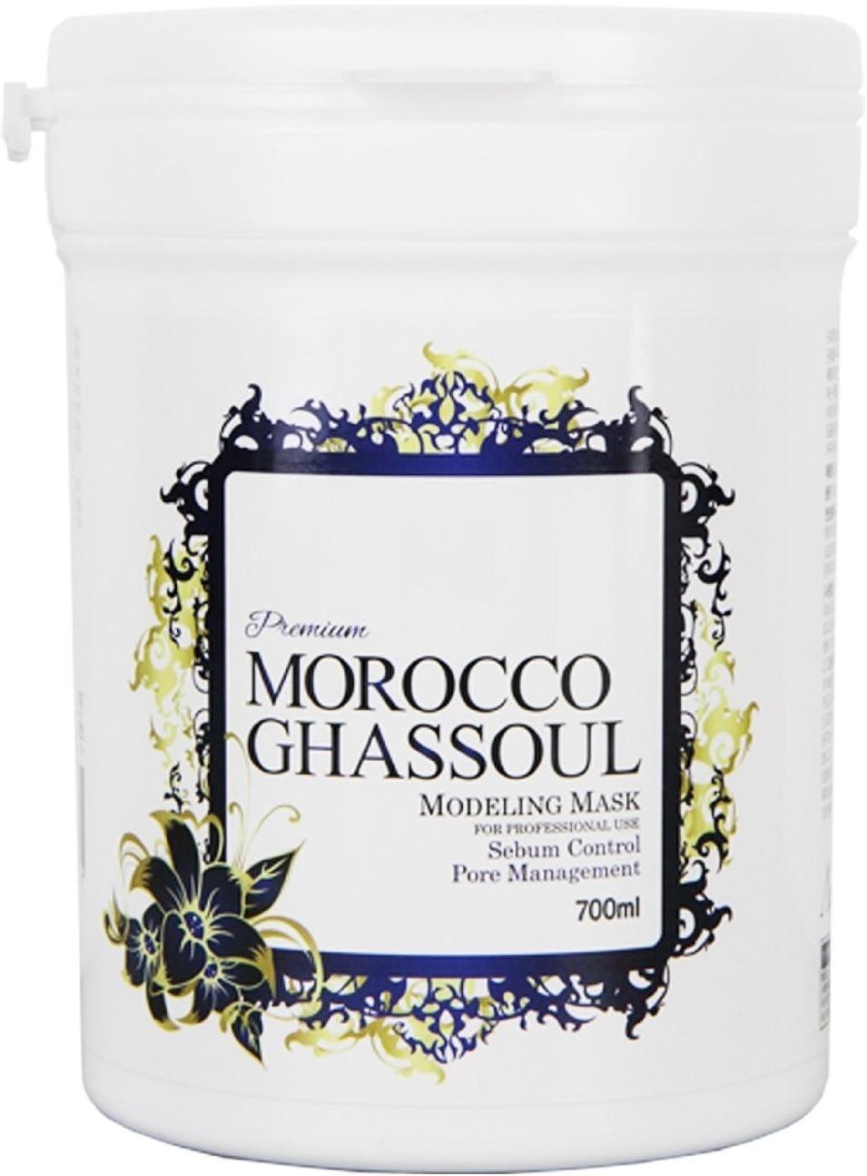Anskin Morocco Ghassoul Modeling Mask  container&amp;nbsp;Маска содержит в себе секреты, привезенные из далекого Марокко. Издавна марокканские женщины пользовались вулканической глиной, обладающей уникальными оздоравливающими и омолаживающими свойствами. Теперь этот ингредиент доступен для каждой желающей в альгинатной маске Anskin.<br>&amp;nbsp;Вулканическая глина сужает поры, успокаивает чувствительную кожу, снимает покраснения и замедляет выработку себума. Маска помогает коже обновиться, избавляя её от омертвевших клеток и запуская процесс выработки новых.<br>&amp;nbsp;Легкий охлаждающий эффект Morocco Ghassoul Modeling Mask замедляет работу сальных желез, снимает раздражения и оказывает легкое подтягивающее действие. Благодаря охлаждению ускоряется микроциркуляция кровяных сосудов и с лица уходят мелкие морщинки.<br>&amp;nbsp;Почему именно альгинатная формула? Альгинаты выступают в роли губки для потовых выделений и токсинов, содержащихся на поверхности эпидермиса. Вытягивая вредные соединения и вещества, маска одновременно выравнивает тон кожи и нормализует её гидробаланс.<br><br>Объём контейнера: 700 мл.<br><br>Масса сухого вещества: 240/1000 гр.<br><br>&amp;nbsp;<br><br>Способ применения:<br><br>Развести с холодной водой в пропорции 1:1 и нанести на очищенную кожу лица. Оставить на 20 минут и снять одним движением, потянув за края.<br>