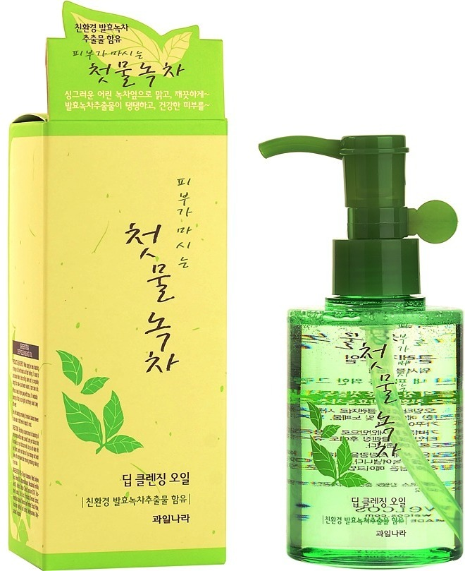 Купить Welcos Green Tea Deep Cleansing Oil