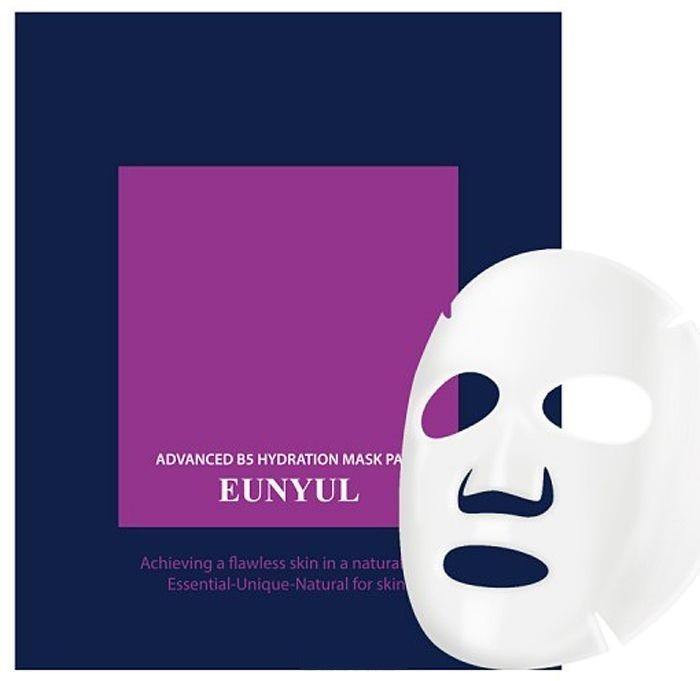 B Eunyul Advanced B Hydration Mask PackКаждая девушка и женщина знает, что ежедневного ухода бывает не достаточно. Периодически нашей коже необходима более комплексная и глубокая процедура – нанесение маски. На косметическом рынке их великое множество и каждая решает конкретную задачу. Для глубокого увлажнения наиболее подходят тканевые маски, которые представляют собой текстильную салфетку в форме лица, пропитанную эссенцией. Именно этот тип ухаживающих масок стал самым популярным в Корее, и не только среди женщин, но и среди мужчин. Компания Eunyul разработала целую серию продуктов на основе витамина B5 – Advanced B5 Hydration. Маска-салфетка из этой серии не только глубоко увлажняет кожу, но и питает ее витаминами.<br>Витамин B5 необходим для поддержания здорового состояния кожи. Он стимулирует природные процессы регенерации и обмена веществ в клетках. Благодаря такому составу маска Hydration Mask pack помогает решить такие задачи:<br>увлажнение;<br>устранение мелких морщинок;<br>лечение воспалений и раздражений;<br>лечение акне и угревой сыпи;<br>устранение шелушений;<br>выравнивание тона лица.Объём: 5 гр.Способ применения:Наносить маску нужно на сухую и чистую кожу лица. Достаньте маску-салфетку из упаковки и аккуратно распределите ее по поверхности лица. Избегайте соприкосновения с областью глаз и областью вокруг рта. Через 25-3- минут аккуратно снимите ее. При желании маску можно использовать повторно – сложите ее обратно в пакет, герметично закройте и положите в прохладное и защищенное от солнца место. После снятия маски-салфетки на лице останется эмульсия. Ее следует немного втереть массажными движениями и позволить остаткам впитаться естественным образом.<br>