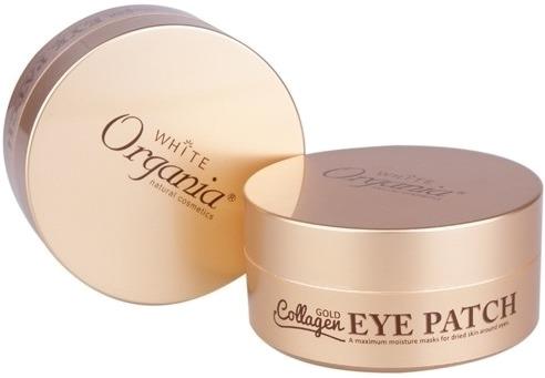 White Cospharm White Organia Gold Collagen Eye Patch.