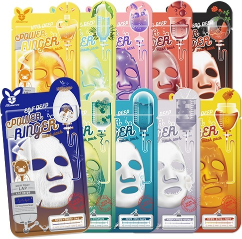 Серия тканевых масок ELIZAVECCA  DEEP POWER RINGER MASK