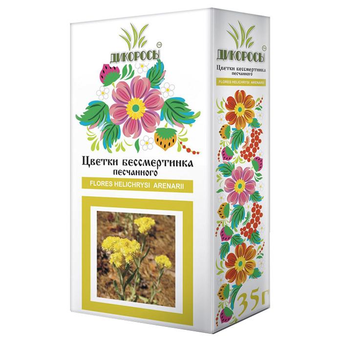 Цветки бессмертника Дикоросы цельные цветки бессмертника песчаного