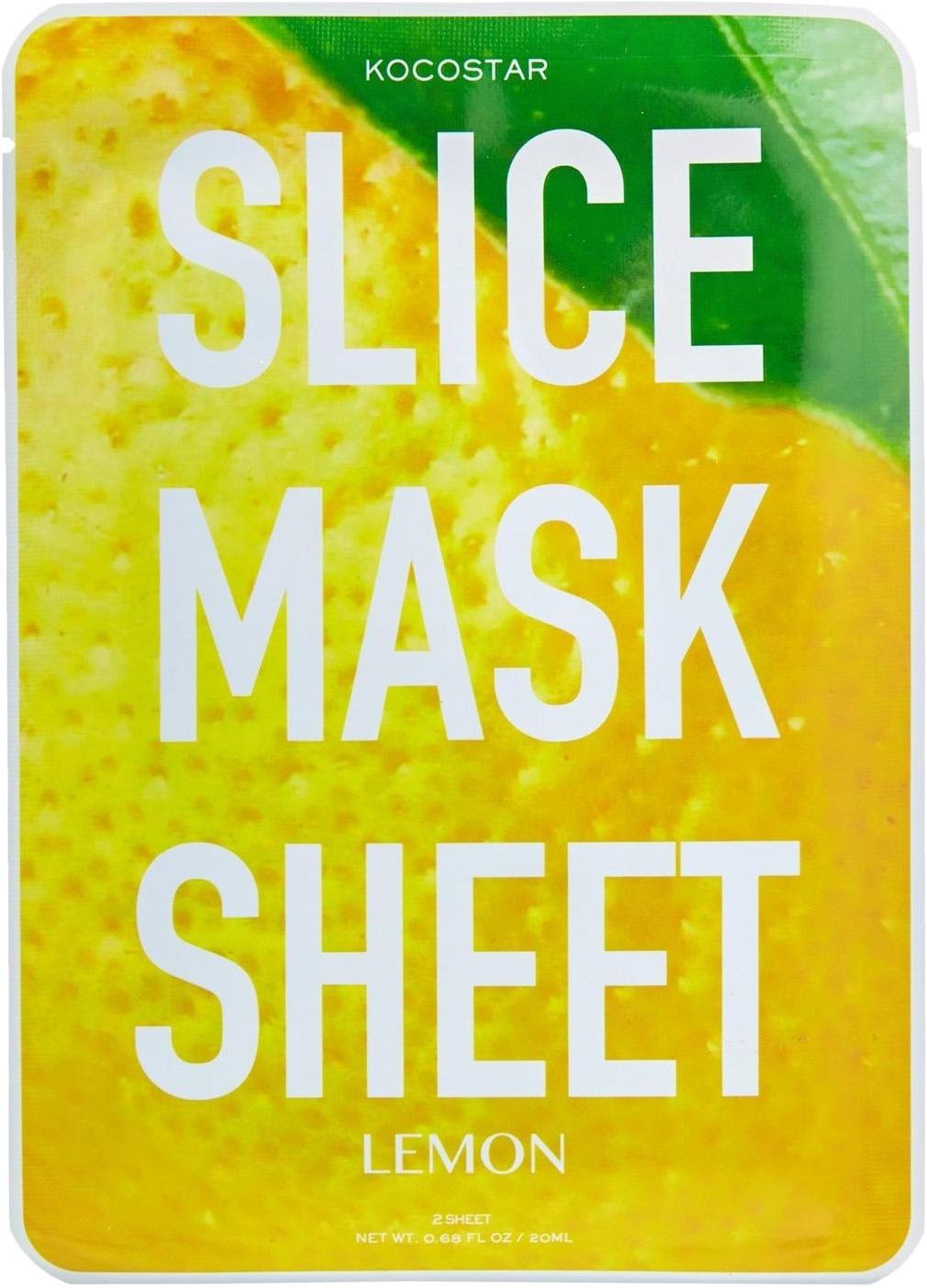 Kocostar Slice Mask Sheet LemonЯркие тканевые маски-слайсы Kocostar Slice Mask Sheet Lemon, выполненные в виде круглых лимонных долек не только прекрасно позаботятся о красоте и здоровье вашей кожи, но и обязательно поднимут настроение в непогожий день. Они повторяют не только форму, но также цвет и запах фрукта.<br><br>Маски выполнены из экологически чистого материала природного происхождения &amp;ndash; тенсела. Он изготовлен из австралийского эвкалипта, что делает материал идеальным проводником между кожей и полезными веществами, содержащимися в составе маски. Тенсел плотно прилегает к эпидермису, обладает антибактериальным эффектом. Такая ткань намного прочнее прочих материалов, используемых в других масках, разрывы и деформация во время применения исключены.<br><br>Действие лимонных масок-слайсов направлено на борьбу:<br><br>&amp;uuml; с обезвоживанием;<br><br>&amp;uuml; усталостью;<br><br>&amp;uuml; тусклостью;<br><br>&amp;uuml; неровным цветом лица.<br><br>Кожа после использования мгновенно преображается, выглядит более увлажненной, посвежевшей, пигментация и покраснения осветляется, а также улучшается микроциркуляция, укрепляются стенки сосудов, уменьшается риск возникновения куперозных сеточек. Экстракт лимона прекрасно снимает отечность, обладает общезаживляющим действием.<br><br>&amp;nbsp;<br><br>Объём: 20 мл<br><br>&amp;nbsp;<br><br>Способ применения:<br><br>Маски-слайсы накладывают на проблемные зоны лица и/или тела на 20 минут.<br>