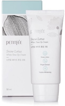 Осветляющий крем для лица и шеи Petitfee Snow Lotus White Tone Up Cream