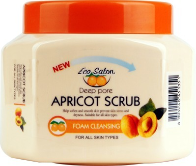 White Cospharm EcoSalon Deep Pore Apricot Scrab.