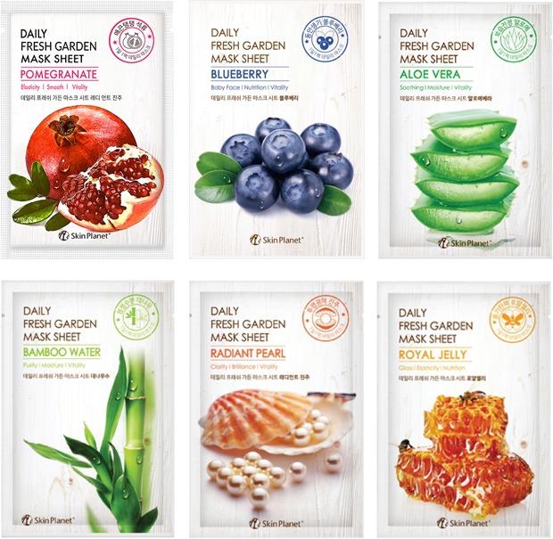 Mijin Cosmetics Skin Planet Daily Fresh Garden Mask Sheet.