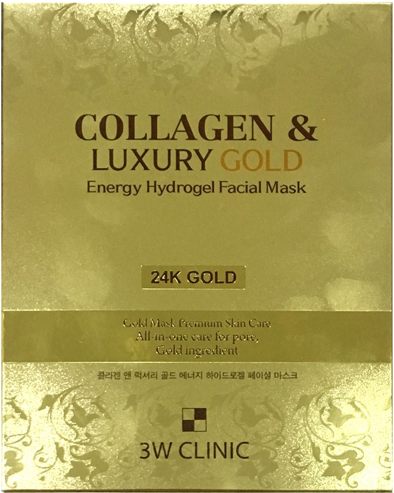 Купить W Clinic Collagen and Luxury Gold Energy Hydrogel Facial Mask, 3W Clinic
