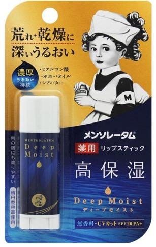 Mentholatum Medicated Balm Lipstick Deep Moist Fragrance Free SPF PA фото