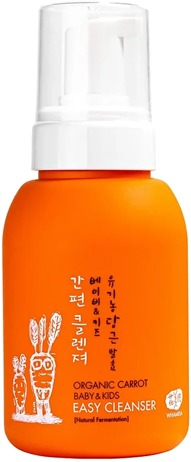 Whamisa Organic Carrot Baby and Kids Easy Cleanser Natural Fermentation.