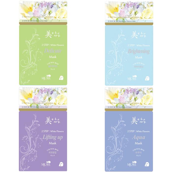 Mijin Cosmetics Midameun Step White Flowers Mask.