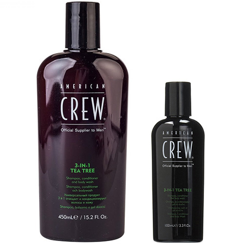 Купить American Crew In Tea Tree Shampoo Conditioner And Body Wash