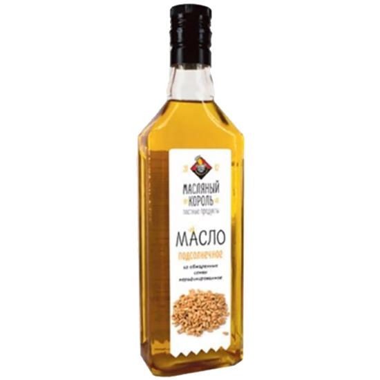 Масло Масляный Король масло подсолнечное из жаренной семечки 100%
