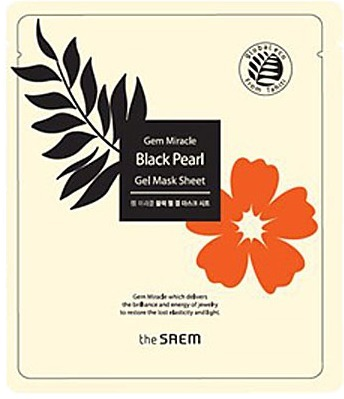 The Saem Gem Miracle Black Pearl Gel Mask Sheet