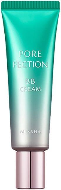 ББ крем для проблемной кожи Missha Pore-Fection BB Cream SPF30/PA++Безупречно гладкая и чистая кожа всего за несколько минут с новым ББ кремом Pore-Fection BB Cream от Missha. Легкая текстура продукта равномерно ложится на кожу, скрывает неровности и дарит свежий и отдохнувший вид. Специальная формула контроля пор, помогает очистить и сузить расширенные поры, устраняет жирный блеск и восстанавливает природную гладкость кожи. Плотные пигменты средства не скатываются, не проваливаются в морщинки и поры, обеспечивают коже гладкость с утра и до вечера.<br>Экстракт алоэ деликатно успокаивает, снимает раздражение, борется с сухостью и шелушением. Помогает поддерживать кожу увлажненной до 24 часов, при этом не вызывая дискомфорта и стянутости. Антибактериальные и ранозаживляющие свойства помогают стимулировать заживление тканей и глубоко очищать кожу.<br>Экстракт папайи стимулирует выработку коллагена, усиливает клеточное дыхание, предотвращает образование свободных радикалов и защищает от пагубного воздействия ультрафиолета.Объём: 30 мл.Способ применения:На предварительно очищенную кожу нанесите ББ крем и тщательно растушуйте.<br>