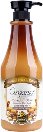 White Cospharm Organia Quick Volume Wear Olive Milky Hair Essence.