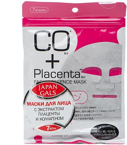 Japan Gals CO and Placenta Facial Essense Mask фото