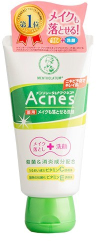 Mentholatum Acnes Medicated Makeup Cleansing Face Wash