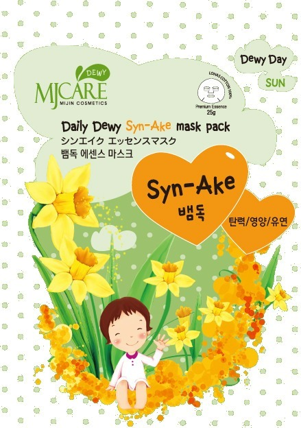 Mijin Cosmetics Mj Care Daily Dewy SynAke Mask Pack.