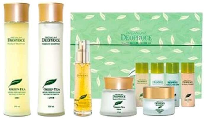 Deoproce Premium Green Tea Total Solution  Set