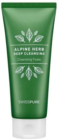 Swisspure Alpine Herb Deep Cleansing Foam.