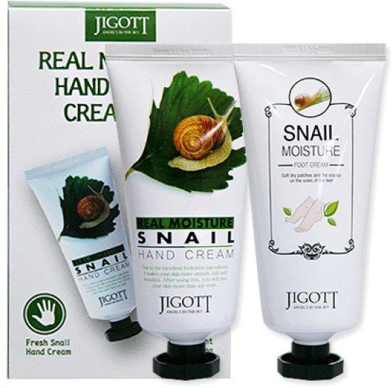 Jigott Real Moisture Hand and Foot Cream Set фото