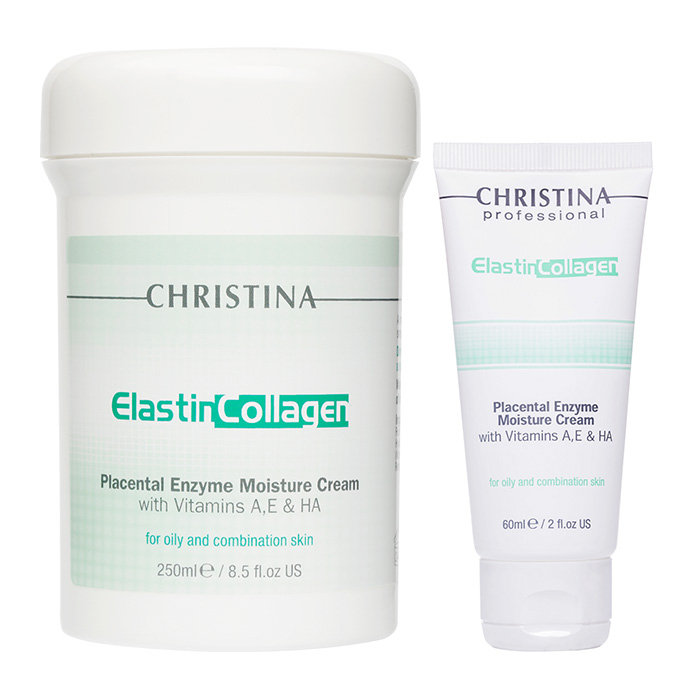 Christina Elastinollagen Placental Enzyme Moisture Cream With with Vit A E and HA For Oily And Combination Skin фото