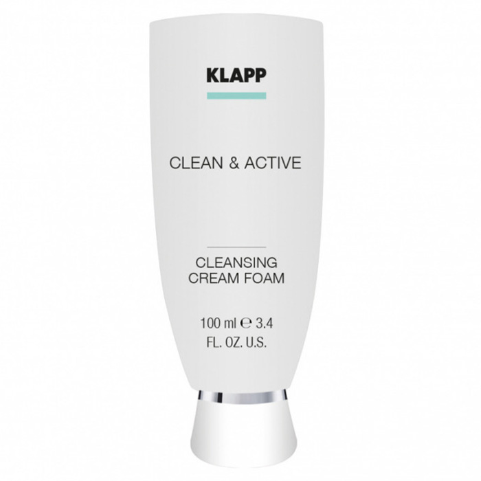 Klapp Clean And Active Cleansing Cream Foam