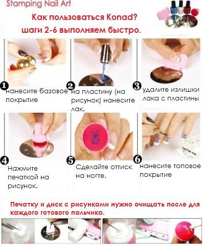Как наносить рисунок на ногти