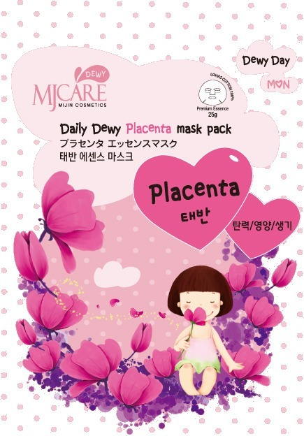 Mijin Cosmetics Mj Care Daily Dewy Placenta Mask Pack.
