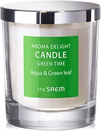 The Saem Aroma Delight Candle Green Time