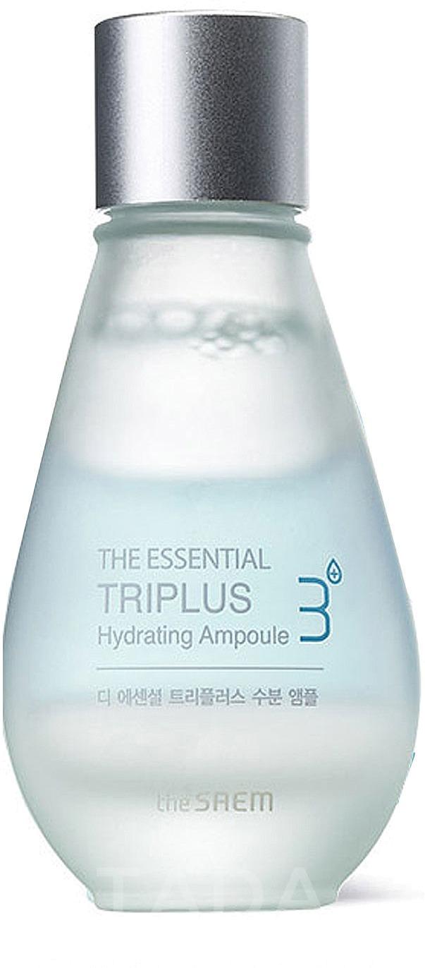 The Saem The Essential Triplus Hydrating AmpouleВ этом трехфазном увлажняющем средстве от компании The Saem собраны лучшие компоненты, прошедшие ферментативную обработку. The Essential Triplus Hydrating Ampoule содержит ферментированные масла, растительные вытяжки и гиалуроновую кислоту, и все это &amp;ndash; для красоты и комфорта вашей кожи.<br><br>Так, ферментированная форма масла оливы превосходно смягчает и глубоко питает. Оно дарит то чувство комфорта, которое будет сопровождать вас весь день. Это первый слой трехфазного средства.<br><br>Второй слой &amp;ndash; экстракты лотоса и кордицепса. Это эффективные омолаживающие, питательные и защитные компоненты. Они обогащают все слои кожи витаминами из собственного состава, способствуют синтезу коллагена и повышению упругости.<br><br>Третий слой &amp;ndash; гиалуроновая кислота. Она помогает поддержать необходимый уровень увлажненности, запирая влагу внутри дермы и не давая ей выходить наружу. Это мощнейший увлажняющий компонент, который также и повышает синтез коллагена, а значит, способствует возвращению упругости кожи и ее красоты.<br><br>Используйте это интенсивное трехфазное увлажняющее средство регулярно, и ваша кожа приобретет здоровье, молодость и сияющий внешний вид.<br><br>&amp;nbsp;<br><br>Объём: 30 мл<br><br>&amp;nbsp;<br><br>Способ применения:<br><br>Средство нужно встряхнуть, чтобы все его слои перемешались, а затем нанести на кожу лица (после мероприятий по тонизированию) при помощи ватного диска.<br>