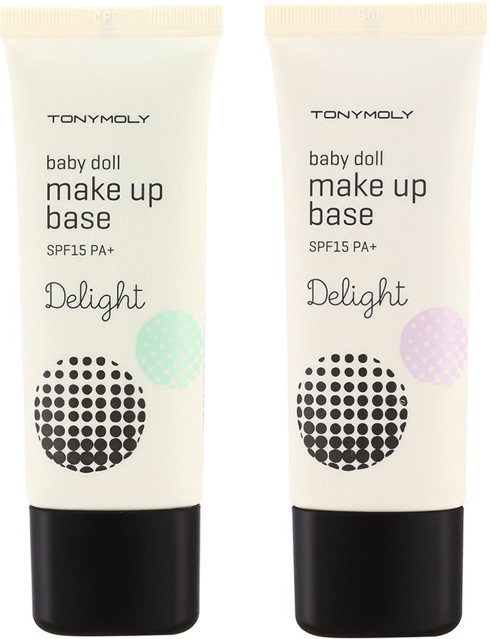Tony Moly Delight Baby Doll Make Up BaseКосметический продукт от азиатской компании Tony Moly разработан специально для создания стойкого и красивого макияжа. С помощью этой основы можно сделать тон кожи однородным, скрыть покраснения, синяки и пигментацию.<br><br>Это средство идеально подходит обладательницам кожи с неидеальным микрорельефом и расширенными порами. База под макияж позволит вам забыть о тусклом и нездоровом цвете лица. Кожа, на которую нанесена основа, выглядит превосходно целый день.<br><br>Продукт имеет нежную, нелипкую, тающую текстуру. Его очень просто наносить на кожу. Впитывается он почти моментально. Благодаря этой особенности, любые тональные средства, BB и CC крема ложатся идеально ровно.<br><br>При этом база выполняет функции не только декоративной косметики. Богатый комплекс, входящий в ее состав, дает возможность заботиться и ухаживать за кожей. В формуле средства содержится гиалуроновая кислота, экстракты киви, винограда, манго, цитрусовых, клубники. Эти компоненты великолепно питают кожу и препятствую преждевременному старению, сохраняя нужный уровень увлажненности. Подтягивающий эффект достигается благодаря содержанию в продукте экстракта миндаля. Ингредиент существенно повышает эластичность кожи.<br><br>База под макияж создает на коже барьер для защиты от ультрафиолетового излучения. Поэтому с ней можно не беспокоиться о появлении пигментации или морщинок.<br><br>&amp;nbsp;<br><br>Объём: 30 мл<br><br>&amp;nbsp;<br><br>Способ применения:<br><br>Основа под макияж наносится на очищенную кожу лица. При наличии расширенных пор рекомендуется не втирать средство, а наносить похлопывающими движениями. После того как она полностью впитается можно приступать к нанесению тональных кремов или пудры.<br>