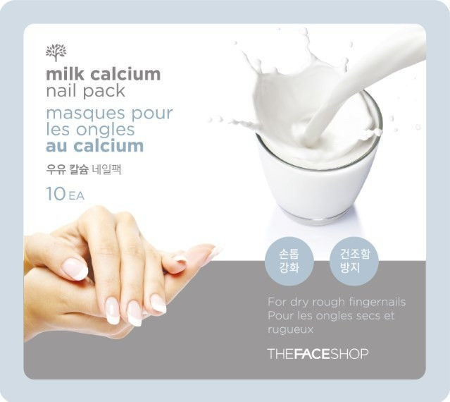 The Face Shop Milk CalciumandProteine Nail Pack