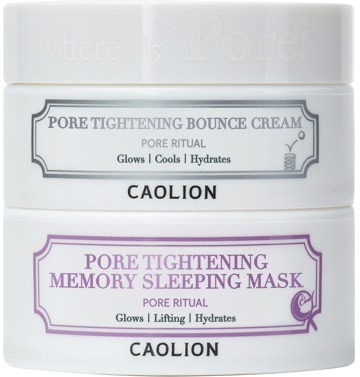 Caolion Pore Tightening Day And Night Glowing Duo.