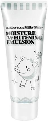 Elizavecca Milky Wear Moisture Whitening EmulsionЭмульсия для лица Milky Wear Moisture Whitening Emulsion корейской марки Elizavecca – настоящий маст-хэв для тех, кто хочет избавиться от пигментных пятен и веснушек. Бонус – плотная и увлажнённая кожа. Или наоборот: эмульсия необходима всем, кто заботится об уровне увлажнённости клеток эпидермиса и, в дополнение, хочет осветлить кожу. В общем, средства на ура справляется с обеими задачами. Судите сами: в составе эмульсии – улиточная слизь (активно увлажняет и отбеливает кожу, заживляет микроповреждения, снимает раздражение и уменьшает воспаления), ниацинамид (он же витамин B3, осветляет пигментные пятна и выравнивает текстуру и рельеф кожи), витамин С (стимулирует выработку коллагена увлажняет и (сюрприз!) избавляет от пигментации). Масло ши (ореха карите) питает и смягчает кожу. Лёгкая эмульсия Elizavecca Milky Wear Moisture Whitening Emulsion с приятным запахом быстро впитывается и не оставляет на коже жирной или липкой плёнки.Объём: 200 мл.Способ применения:Нанесите небольшое количество эмульсии на очищенное лицо. Вбейте средство в кожу лёгкими похлопываниями пальцев.<br>
