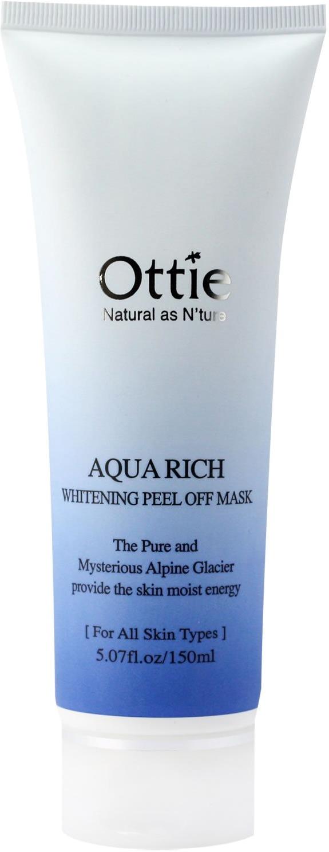 Ottie Aqua Rich Whitening Peel Off Mask Pack фото