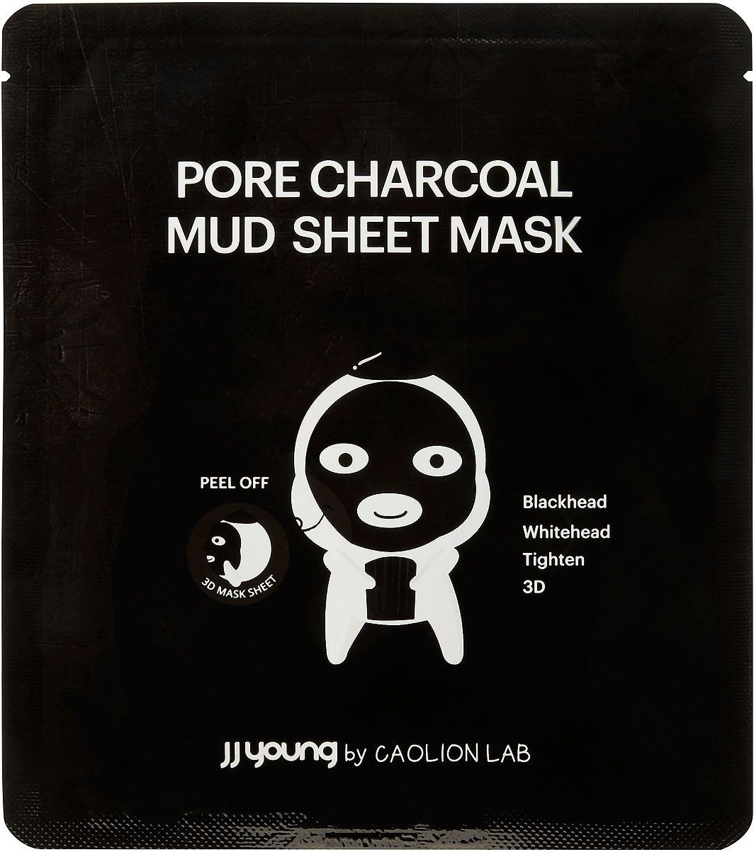 D JJ Young Pore Charcoal Mud Sheet Mask фото