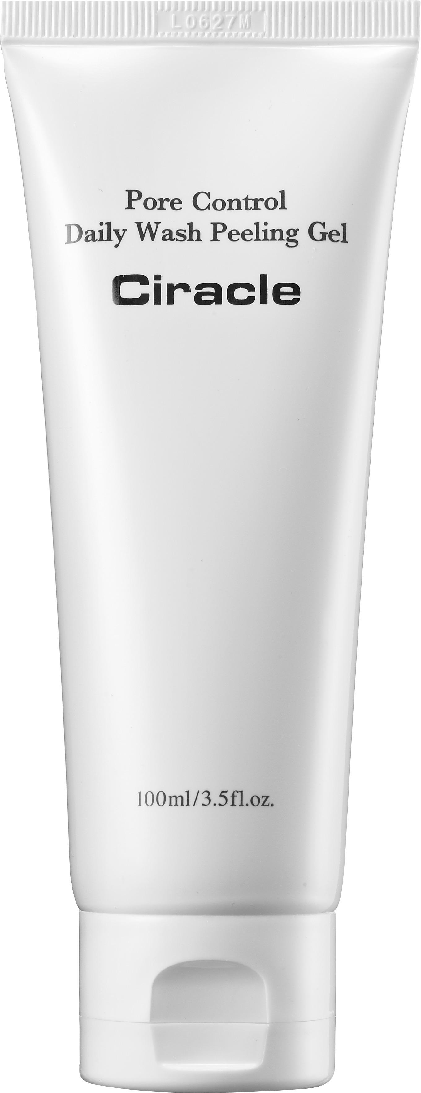 Ciracle Pore Control Daily Wash Peeling GelГелевый пилинг с активными энзимами папайи Ciracle Pore Control Daily Wash Peeling Gel способствует глубокой очистке кожи от загрязнений на салонном уровне.<br><br>Пилинг позволяет избавиться от мертвых клеток эпителия, очистив поры от сальных пробок и сузить их. Осветляющий эффект производится благодаря энзимам папайи, которые содержат витамин С и не только выравнивают цвет лица, но и отслаивают &amp;laquo;груз&amp;raquo; частичек кожного покрова, не позволяющего коже дышать и обновляться.<br><br>Масло апельсина обладает заживляющими свойствами, выводит шлаки и токсичные загрязнения из глубин клеток, делая кожу оздоровленной, свежей и более устойчивой к резкой смене температуры.<br><br>Аллантоин регенерирует, обновляет и заживляет. Очищает поры. Предупреждает закупоривание и образование сальных пробок. Отшлифовывает рельеф кожи.<br><br>&amp;nbsp;<br><br>Объём: 100 мл<br><br>&amp;nbsp;<br><br>Способ применения:<br><br>Гель-пилинг применяется на сухой коже, производится очищающий легкий массаж, затем средство удаляется водой.<br>