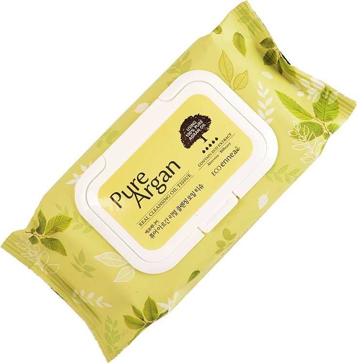 Welcos Ecoennea Pure Argan Real Cleansing Oil Tissue