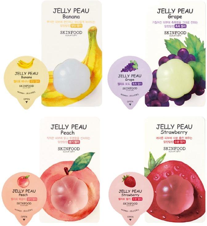 Skinfood Jelly Peau Fruits Mask Wash OffКаждая девушка и женщина знает, что недостаточно ежедневно очищать и увлажнять кожу. Необходимо также совершать процедуры для более глубокого очищения и питания – нанесение масок.<br>Маски Jelly Peau от компании Skinfood имеют в своем составе экстракты фруктов. Ведь именно эти плоды содержат множество полезных веществ, которые наша кожа должна получать ежедневно.<br>Увлажняющая маска Fruits Mask Wash Off выпускается в двух вариациях:<br>1. Банановая. Содержит экстракт банана. Глубоко увлажняет и минимизирует проявление возрастных изменений, питает кожу полезными веществами, устраняет пигментацию.<br>2. Виноградная. Содержит экстракт винограда. Увлажняет кожу, питает полезными веществами, делает тон лица ровным, свежим и здоровым. Снимает раздражения. Активизирует природный процесс регенерации.Объём: 10 мл.Способ применения:Перед нанесением средства нужно тщательно очистить кожу и подсушить ее полотенцем. Затем небольшое количество средств распределить равномерно по лицу, избегая области вокруг глаз и рта. Через 20-25 минут ополоснуть лицо прохладной или теплой водой, чтобы смыть маску.<br>