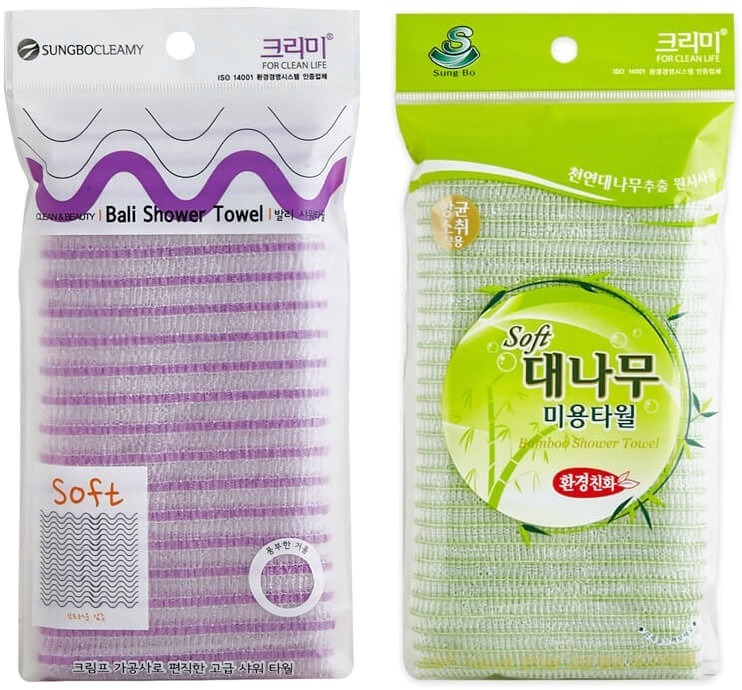 Sungbo Cleamy Clean And Beauty Shower Towel.