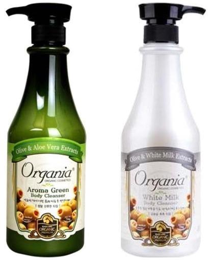 White Cospharm Organia Aroma Green Body Cleanser.