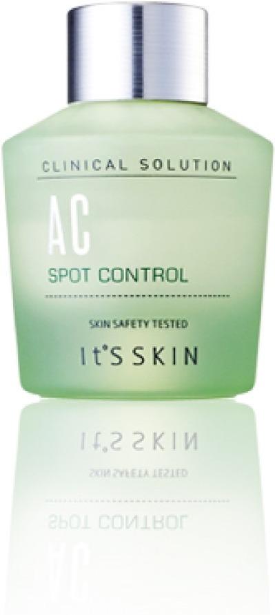 Its Skin Clinical Solution AC Spot ControlСпециальная линейка ухаживающих средств Clinical Solution AC от It&amp;#39;s Skin позволит эффективно позаботиться о нежной и чувствительной коже. Высокая концентрация активных компонентов интенсивно борется с воспалениями, шелушением и высыпаниями кожного покрова. Помогает сохранить чистоту и ухоженность. Специальная формула средства способствует сохранению физиологического уровня влажности и pH кожного покрова, помогает контролировать водно &amp;ndash; солевой баланс кожи и дарит ей гладкость. Стимулирует заживление акне. Предотвращает их новое образование, сужает расширенные поры и дарит коже матовость.<br><br>Салициловая кислота в качестве действующего компонента воздействует на инфекции, блокирует их и очищает поры от скопившихся токсинов. Благодаря своим антибактериальным, ранозаживляющим и подсушивающим свойствам, она стимулирует восстановление тканей сужает расширенные поры и стимулирует заживление тканей.<br><br>Экстракт мяты успокаивает, снимает зуд и раздражение, способствует мягкому сужению раздраженных пор. Усиливает защитные функции клеток и повышает местный иммунитет.<br><br>Экстракт дамасской розы и шалфея оказывают регенерирующее, увлажняющее и тонизирующее действие. Помогает контролировать работу сальных желез, дарит коже матовость и эластичность.<br><br>&amp;nbsp;<br><br>Объём: 20 мл.<br><br>&amp;nbsp;<br><br>Способ применения:<br><br>В завершающем этапе ухода локально нанесите средство на проблемные участки. Рекомендовано использовать 1 &amp;ndash; 2 раза в день.<br>